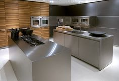 The Bulthaup Kitchen Stainless Steel Kitchen Cabinets, Kitchen Cupboards, Kitchen Laminate, Küchen Design, Layout Design, Design Ideas, Kitchen Furniture, Kitchen Interior, Modern Kitchen Island