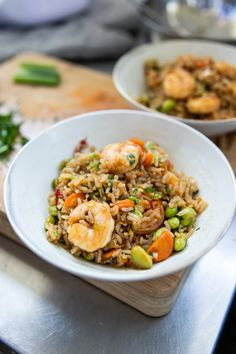 Kung Pao Chicken, Japchae, Shrimp, Chili, Food And Drink, Chinese, Dinner, Ethnic Recipes, Rice