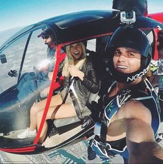 From selfies in helicopters to action surf shots, it's not just romantic pictures the pair...