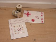 fabric postcards ~Redwork in Germany