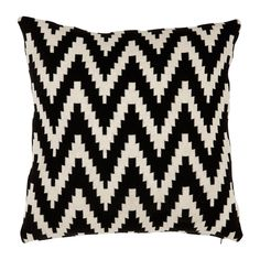 Shop the Eichholtz Global Black White Chevron Decorative Pillows - and other Decorative Pillows at Kathy Kuo Home Sweetpea And Willow, Black And White Pillows, Black White, Monochrome Pattern, Luxury Cushions, Chevron Patterns, Sleigh Beds, Art Deco Furniture, White Furniture