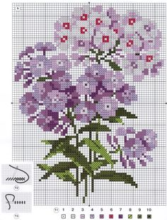 The nice one for cross stitch Tiny Cross Stitch, Cross Stitch Flowers, Cross Stitch Charts, Cross Stitch Designs, Cross Stitch Patterns, Ribbon Embroidery, Cross Stitch Embroidery, Embroidery Patterns, Cross Stitching