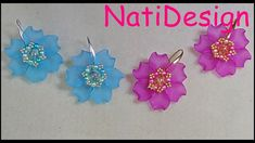 PENDIENTES PRIMAVERA Jewelry Making Tutorials, Beading Tutorials, Beading Patterns, Beaded Rings, Beaded Jewelry, Peyote Beading, Earring Tutorial, Beaded Flowers, Rose Petals