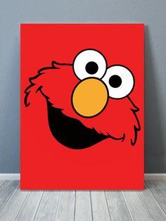 Elmo Pop Canvas Art - Painting Ideas For Beginners 2020 Easy Canvas Art, Small Canvas Art, Easy Canvas Painting, Mini Canvas Art, Diy Painting, Abstract Canvas, Diy Canvas, Disney Canvas Paintings, Disney Canvas Art