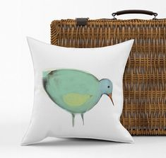 Housse de coussin maman oiseau bébé dessin original cadeau Etsy, Throw Pillows, Canvas, Originals, Velvet, Mom, Impressionism, Canvas, Cushions
