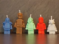 Guardians of the Galaxy birthday candles x 5 by legobrick on Etsy