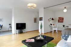 Adorable and Functional One Room 475 sq. ft. Apartment in Stockholm