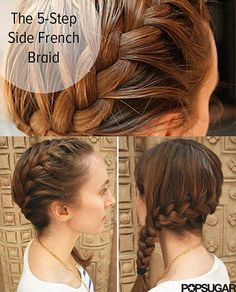 This amazing side braid can be yours in 5 simple steps. This amazing side braid can be yours in 5 simple steps. French Braid Hairstyles, Pretty Hairstyles, Short Hairstyles, Updo Hairstyle, Damp Hair Styles, Curly Hair Styles, Katniss Braid, Side Braid Tutorial, Side French Braids