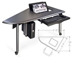 exchange collaboration table left element for modular conference table multi-shape configurations