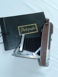 POLAROID BELLOWS 1950s camera film brown by VintageTreasuresRus, $129.00