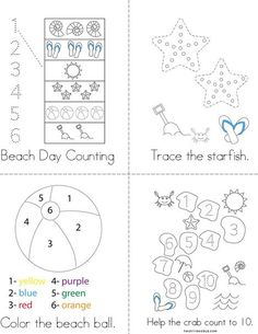 Beach Activity Book from TwistyNoodle.com Beach Activities, Book Activities, Dinosaurs Preschool, Personalized Books, Summer Is Here, Kids Prints, Mini Books, Free Printables, Teaching