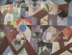 PAUL KLEE Tiergarten Kunstdruck Farbdruck Art Print aus den 50er Jahren | eBay