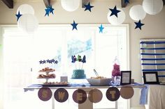 rocket themed baby shower// i love, love this sweet baby shower idea!!!