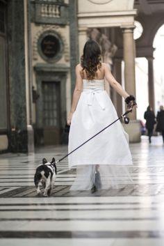 walk in the street wedding dress