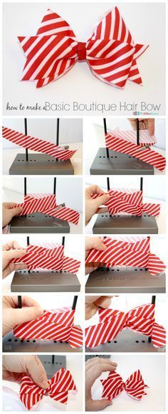 """pixels """"Learn how to make a Basic Boutique Hair Bow with this easy tutorial. This fun bow can be made with a Making Hair Bows, Diy Hair Bows, Hair Ribbons, Diy Ribbon, Ribbon Crafts, Ribbon Bows, Ribbon Flower, Ribbon Retreat, Hair Bow Tutorial"""
