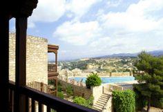 #parador de #tortosa #weddingvenue #bodas con #encanto #piscina vista desde la terraza