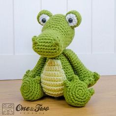 Crocodile Amigurumi PDF Crochet Pattern by oneandtwocompany