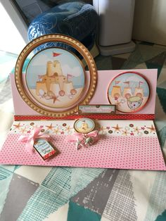Made by Glynis Kane - I used the lovely club members gift to make this seaside themed card.