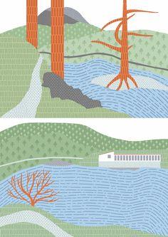 Urisee made in Procreate #visufon #illustration #mariaschlögl #nature#landscape