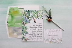 Botanical Watercolor Wedding Invitations-Momental DesignsMomental Designs