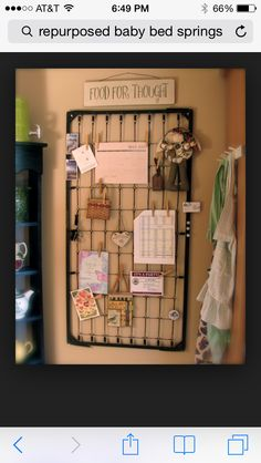 Use for a bulletin board