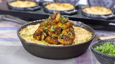 Make Southern-style BBQ shrimp with slow-cooker grits
