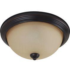 Sea Gull Lighting 77063 Ceiling Flush Mount 1 Light Flush Mount Ceiling Fixture