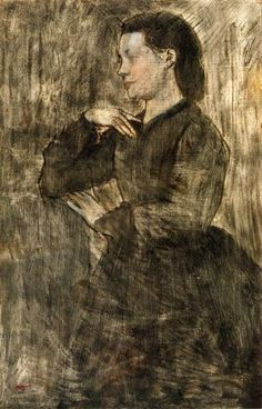Portrait of a Woman, Edgar Degas, from WikiArt Edgar Degas, Degas Drawings, Degas Paintings, Mary Cassatt, Pierre Auguste Renoir, Edouard Manet, Art Ancien, Post Impressionism, French Artists