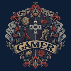 pixalry: The Gamers Crest - Created by Cory Freeman Available for sale as a t-shirt at the Pixel Empire shop. Use the code PIXALRY at checkout to get off your order. Gamer Tattoos, Tatoos, Culture Art, Geek Culture, Deco Gamer, Ps Wallpaper, Flipper, Gaming Wallpapers, Funny Tee Shirts