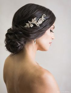 Headpiece Available at Ella Park Bridal | Newburgh, IN | 812.853.1800 | Bel Aire - Style 6715 in gold, rose gold, and silver