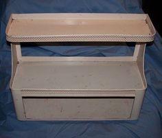 Vintage  BATHROOM    CABINET   All Metal    Originally  Pink   END OF SUMMER $$