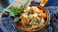 Creamy Rice Casserole with Broccoli and Chicken