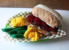 Felt Play Food - Southern BBQ Dinner Set