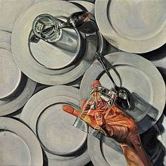 Broken Drinking Glass (Oil on canvas) by Paul X. Rutz Artists | Rutz | Portland Open Studios