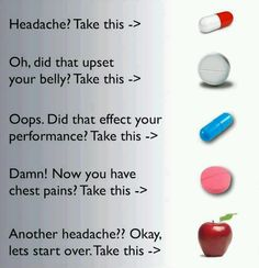 you're your own best doctor.. take the natural medicine