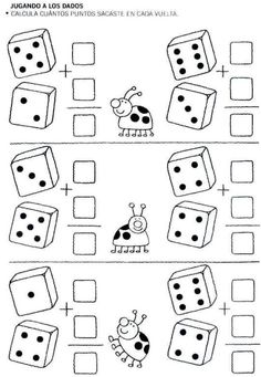 Números escondidos, colorea y descúbrelos. Y luego escribe el número descubierto al lado.          Ahora fichas de sumas y contar con los pa...