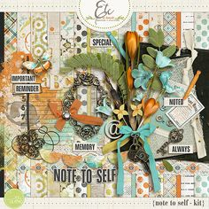 Note to Self Kit | Etc by Danyale #digiscrap #digitalscrapbooking #scrapbooking