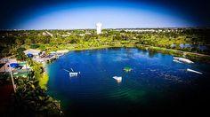 Water skiing at Deerfield Beach!!! #dji #djiglobal #djicreator #drone #dronenerds #polarpro #photoshoot #photography #waterski #waterskiing #quietwaterspark #florida #miami #deerfieldbeach #aerialphotography #lake