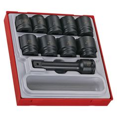 16 Piece 3/4 inch Drive Impact Socket Set The ball point head on the long key end improves access. The set is supplied in a unique teng tools tc tray and can be used either on it's own or as part of the teng tools tc control system. For more information visit here. https://www.tengtoolsusa.com/get-organzied/tool-control-system/impact-tool-trays.html