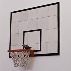 "Main Section | Davide Monaldi ""Canestro da basket con uccellino (basketball basket with small bird)"" 2013, Courtesy Studio Sales Norberto Ruggeri"
