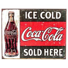 Ice Cold Coca-Cola 1916 Tin Sign