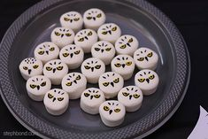 Hedwig owl marshmallow treats for Harry Potter birthday party