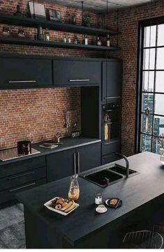 Impressive and Different Kitchen Design Photos No 1 – Home Design Ideas Home Design, Küchen Design, Home Interior Design, Interior Architecture, Design Ideas, Kitchen Designs Photos, Best Kitchen Designs, Kitchen Photos, Home Decor Kitchen