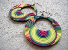 veľké kruhy limetkové Washer Necklace, Polymer Clay, Crochet Earrings, Crafts, Jewelry, Ear Rings, Fimo, Jewlery, Jewels