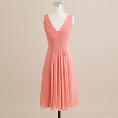 maid of honor dress option....louisa dress in silk chiffon from j crew (bright coral). $225