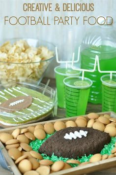 Super Bowl or Football Party Drinks - Goal Post Straws! - Creative Juice | @Mindy CREATIVE JUICE