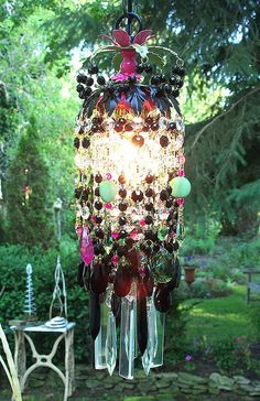 Bohemian Gypsy Crystal Petite Chandelier by sheriscrystals on Etsy