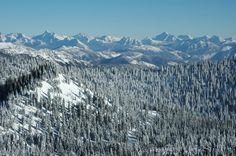 View from our ski resort Big, Mtn., Whitefish, Montana.