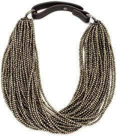 Brunello Cucinelli beaded choker necklace