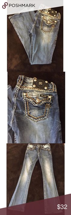 MISS ME Signature Bootcut Jeans Miss Me jeans. Excellent condition! 31.75 inch inseam. Miss Me Jeans Boot Cut